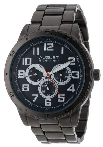 August Steiner Men's Quartz Multifunction Elegant Bracelet Watch