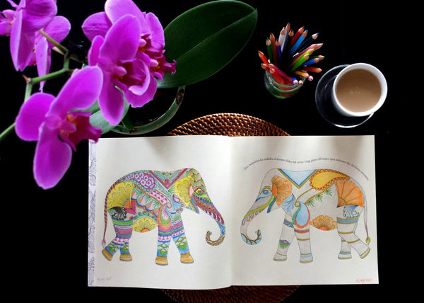 Millie Marotta's Animal Kingdom and Tropical Wonderland Colouring Adventure Books