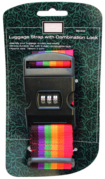 LUGGAGE STRAP WITH COMBINATION LOCK