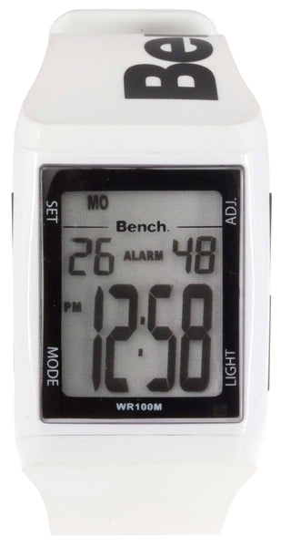Bench Men's Digital White Rubber Strap watch