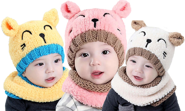 2pc Baby Bear Beanie and Scarf