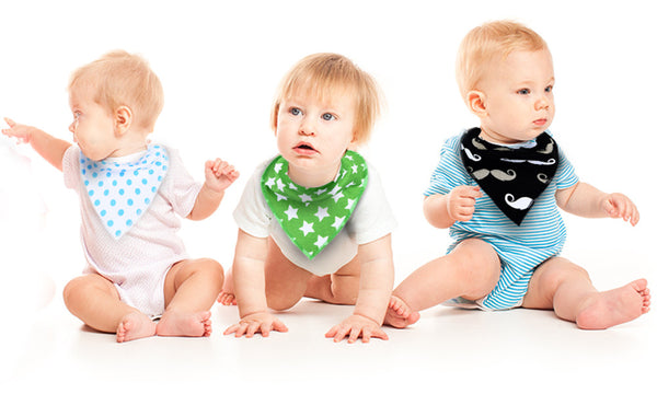 4 Pack of Hipster Bandana Baby Bibs (Boys, Girls and Unisex)