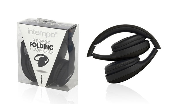Intempo Foldable Headphones with Rubber Finish
