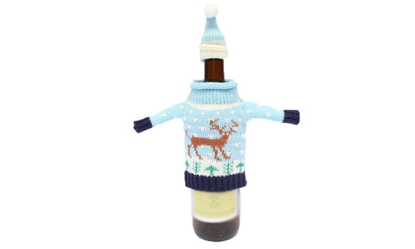 Christmas Jumper & Hat Wine/Spirit Bottle Cover