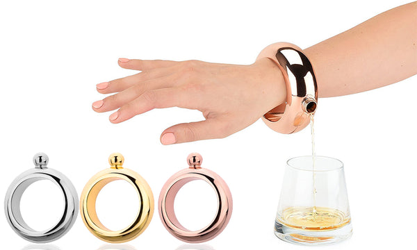 Metallic Bracelet Flasks