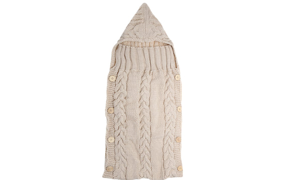 Cable Knit Baby Swaddle Blankets