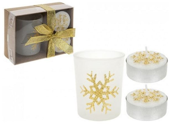 3pc Tealight Candle and Votive Set