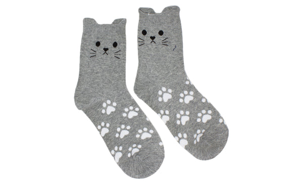 5pack Cotton Rich Cat Socks