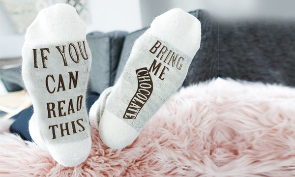 'Bring Me Chocolate' Socks