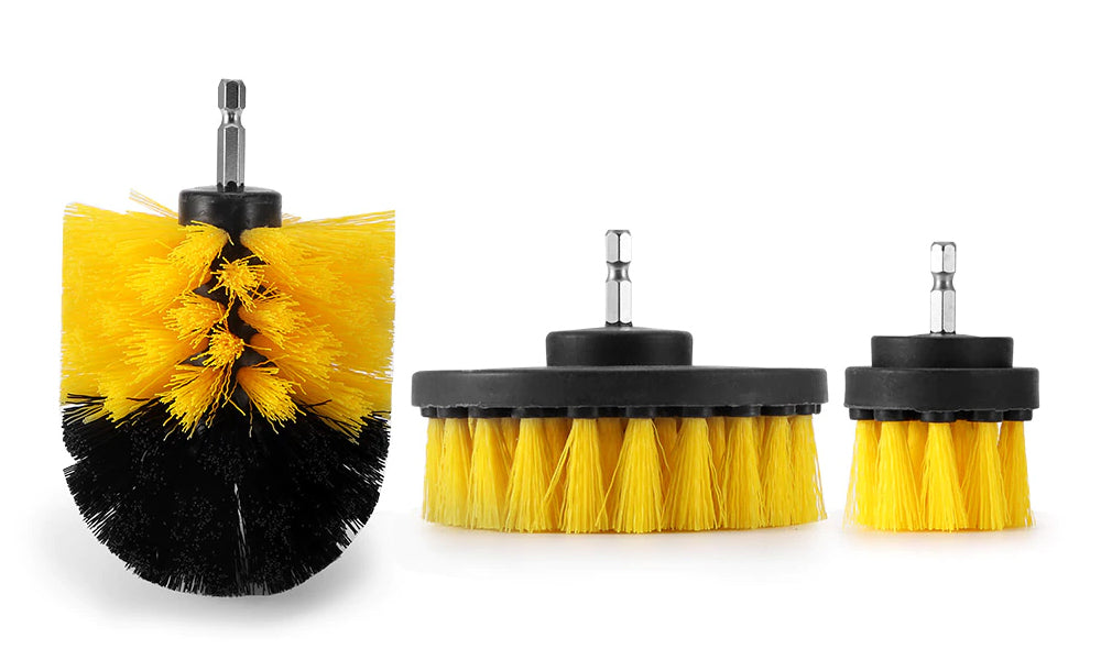 3pc Drill Attachment Cleaning Brush Heads