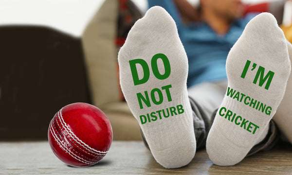 Do Not Disturb I'm Watching Cricket Socks