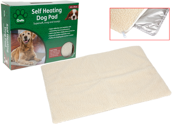 CRUFTS LUXURY SELF HEATING PET PAD