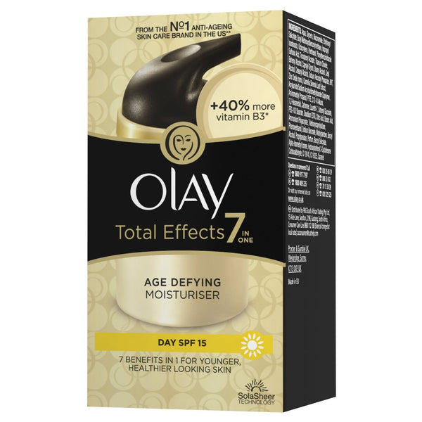 Olay SPF15 Total Effects 7-in-1 Anti-Ageing Moisturiser - 50 ml Day or Night Moisturiser