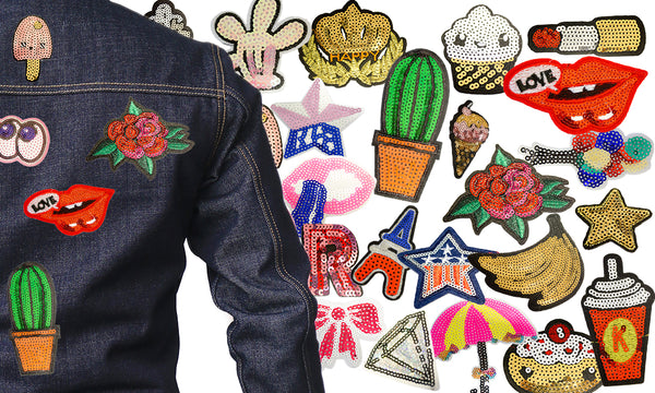 Assorted Iron on Denim Patches