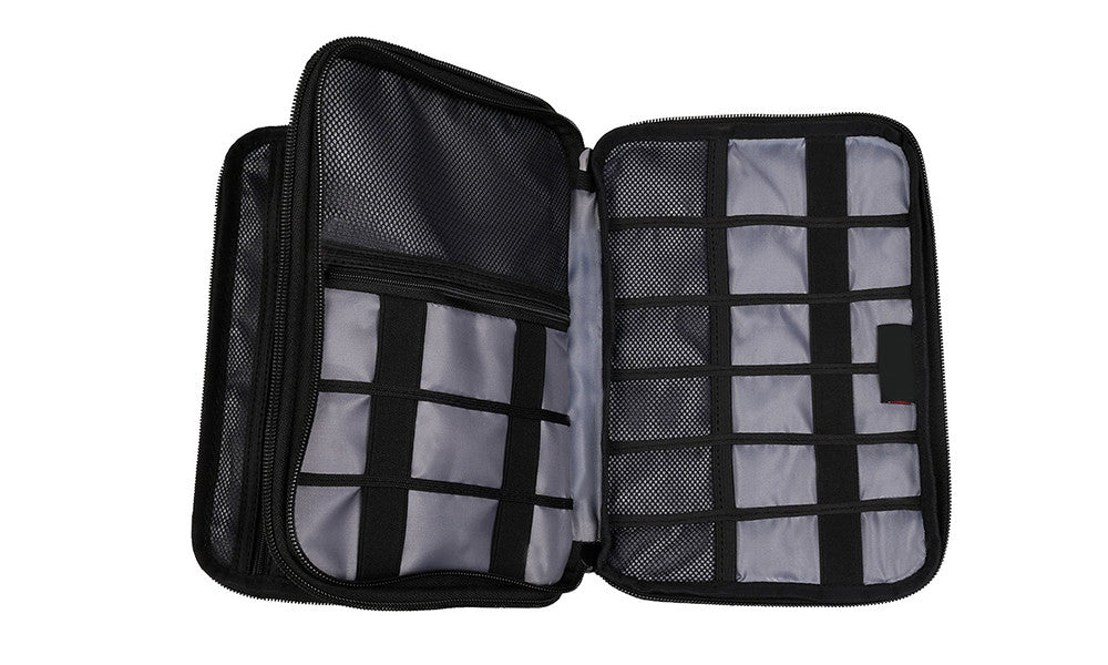 Double Layer Travel Tablet and Electronics Organiser