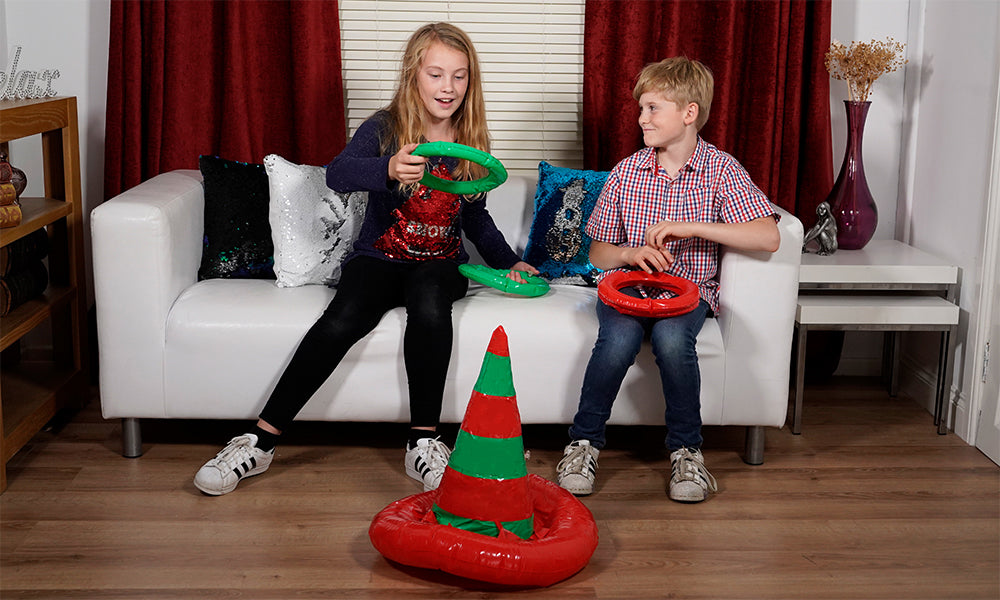 Inflatable Elf Ring Toss Family Christmas Game