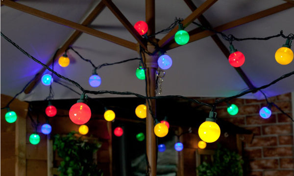 Dynergy Solar Powered Outdoor Colour Festoon Retro Bulb