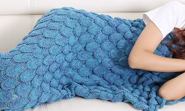Dynergy Knitted Mermaid Tail Blanket