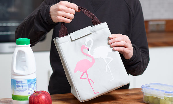 Flamingo Print Oxford Thermal Insulated Lunch Bags