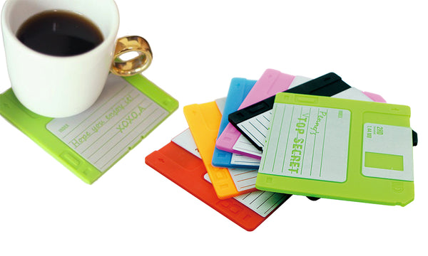 6 Floppy Disk Coasters