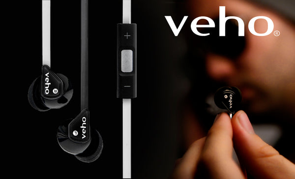 Veho Noise Isolating Z-2 Earbuds  flex 'anti' tangle cord system with Mic & Remote