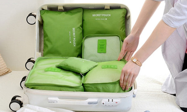 Six-Piece Travel Luggage Organiser Set in Choice of Colour