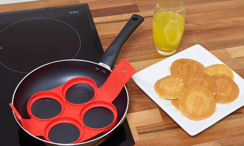 Non-Stick Pancake/Egg Molds With Easy Flip Handles - 4 Styles