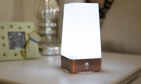 GloBrite Copper Motion Sensor Table Light