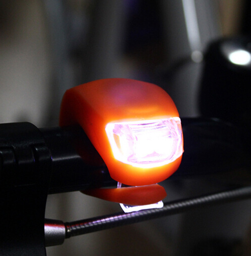 2 LED Silicone Bike front & Rear Lights