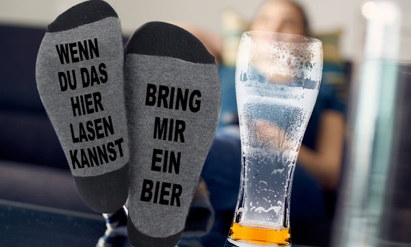 'Bring Me Beer' Warm Winter Socks