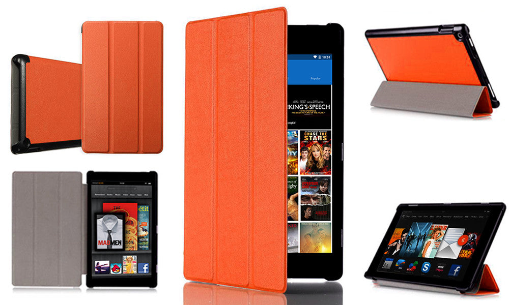 "Amazon Kindle Fire HD 7"" Leather Folding Stand Case"