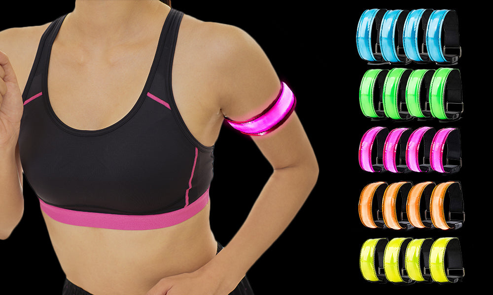 4 Pack Battery Powered LED Arm Bands