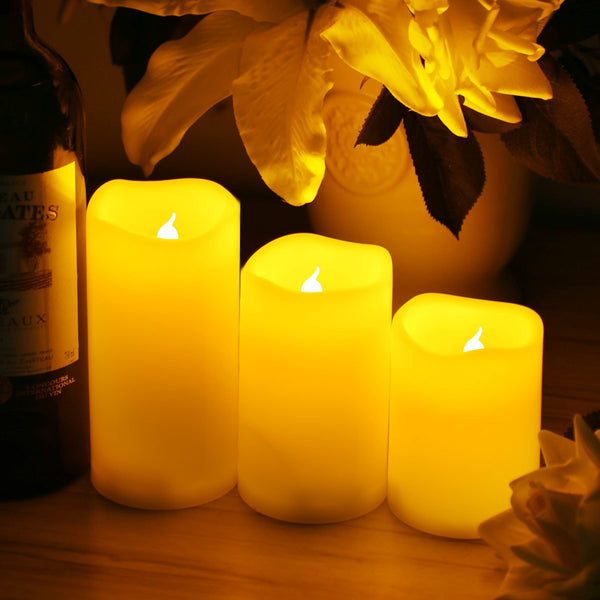 Set of 3 Flameless wax LED candles