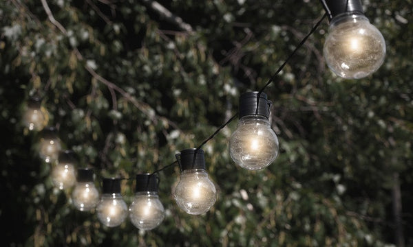 GloBrite Solar Powered Outdoor Retro Bulb String Lights