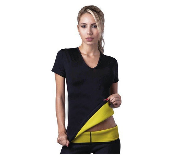 Unisex Heat Generating Slimming T shirt