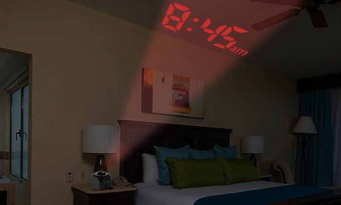 LED Projection Alarm Clocks and Temperature Station