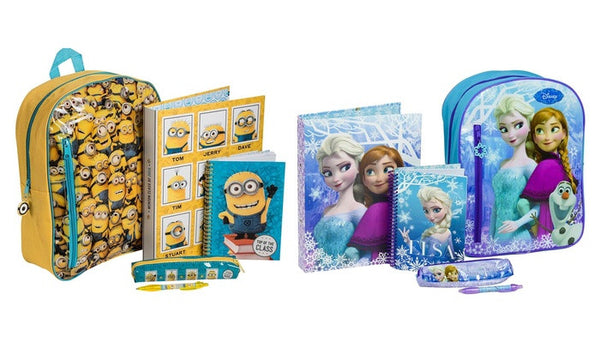 Frozen or Minions Filled Backpacks