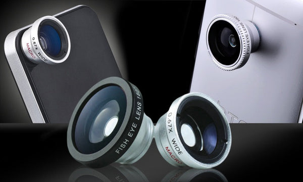 Set of 3 Magnetic smartphone clip-on lenses