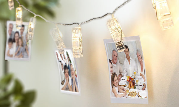 Battery Operated 10 LED Peg String Lights