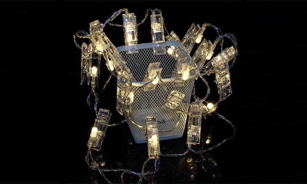 Dynergy Battery Operated 10 Led Peg String Lights