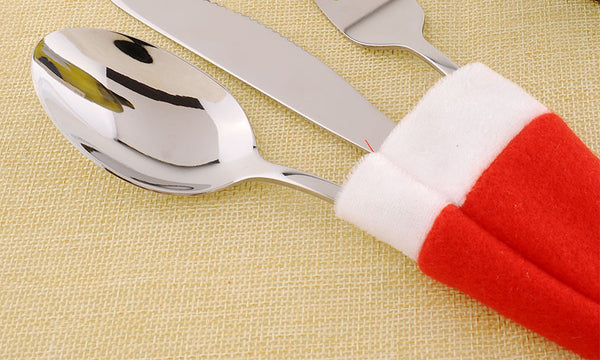 Santa Hat Cutlery Holders 10pack