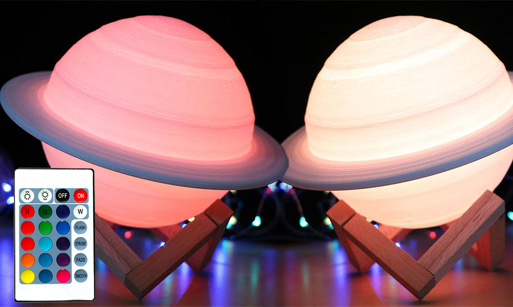 GloBrite 3D Saturn Lamps With Remote