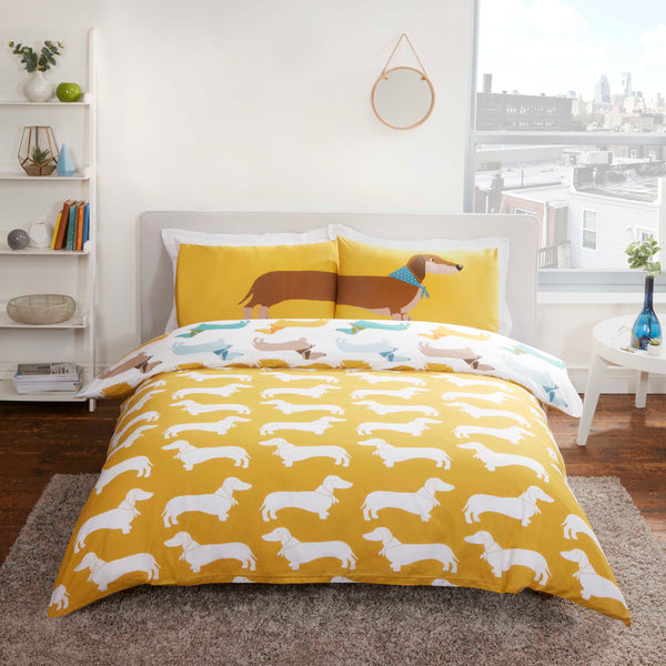 Sausage Dog Reversible Duvet Set