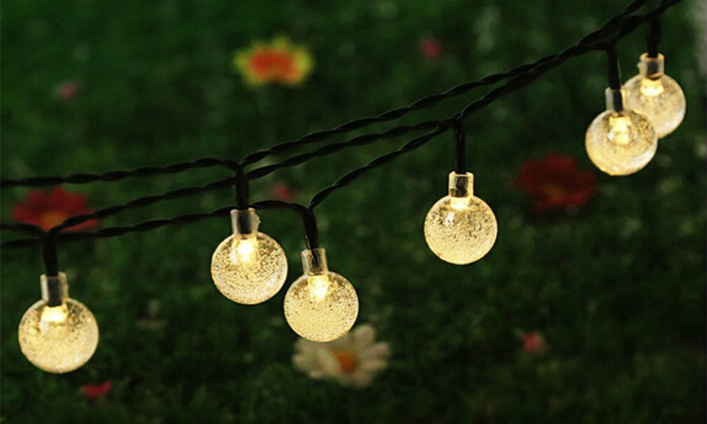 30 Solar Crystal LED String Bulbs