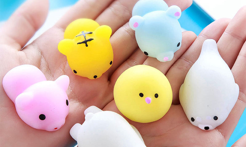 10pc Assorted Animal Squishy Toys