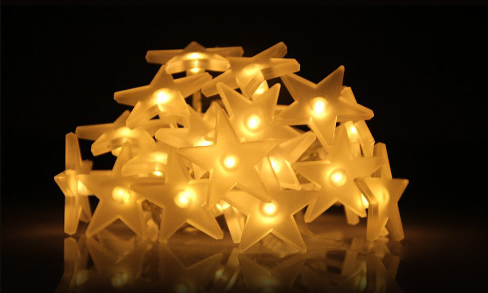 20 LED Star Battery Operated Fairy String Lights