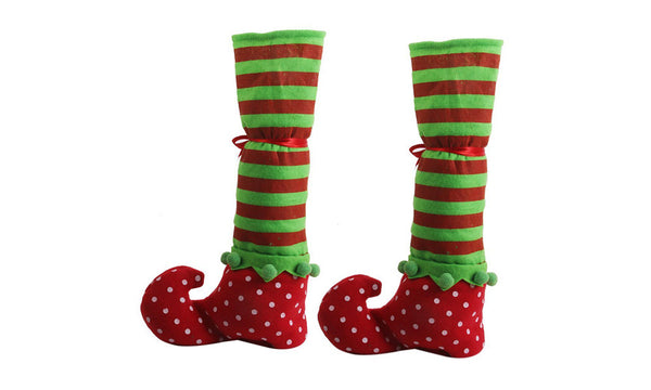 Christmas Elf Boot Bottle Bag