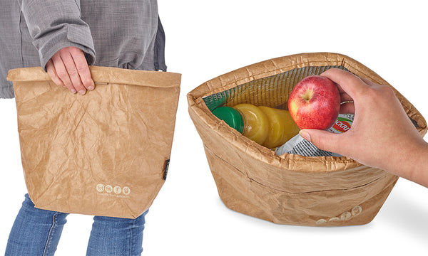 Brown Paper Insulated Lunch Bag