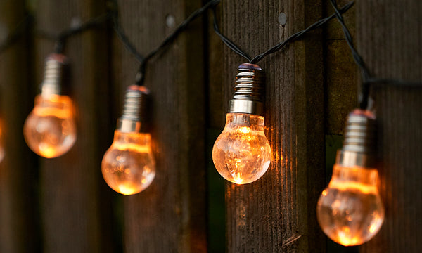 GloBrite Solar Filament Bulb String Lights