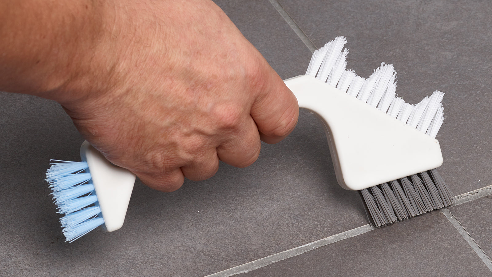 Triple Head Tile and Grout Brush